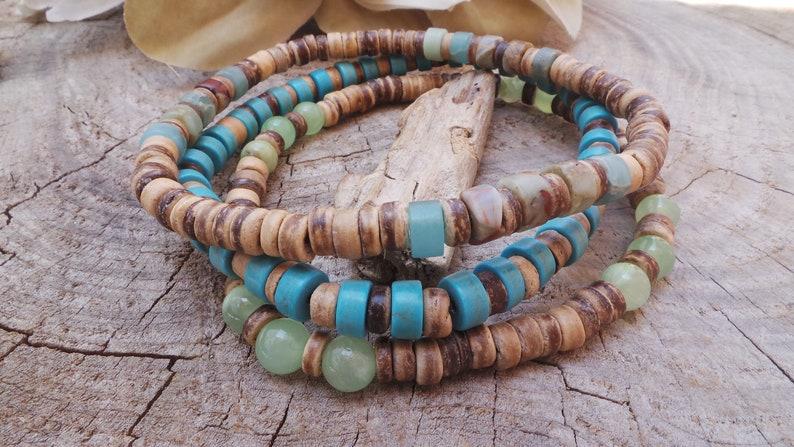 Mens surfer style bracelet Mens  bracelet Mens stacking bracelets Mens stretch bracelet Mens boho bracelets. Mens beaded bracelet