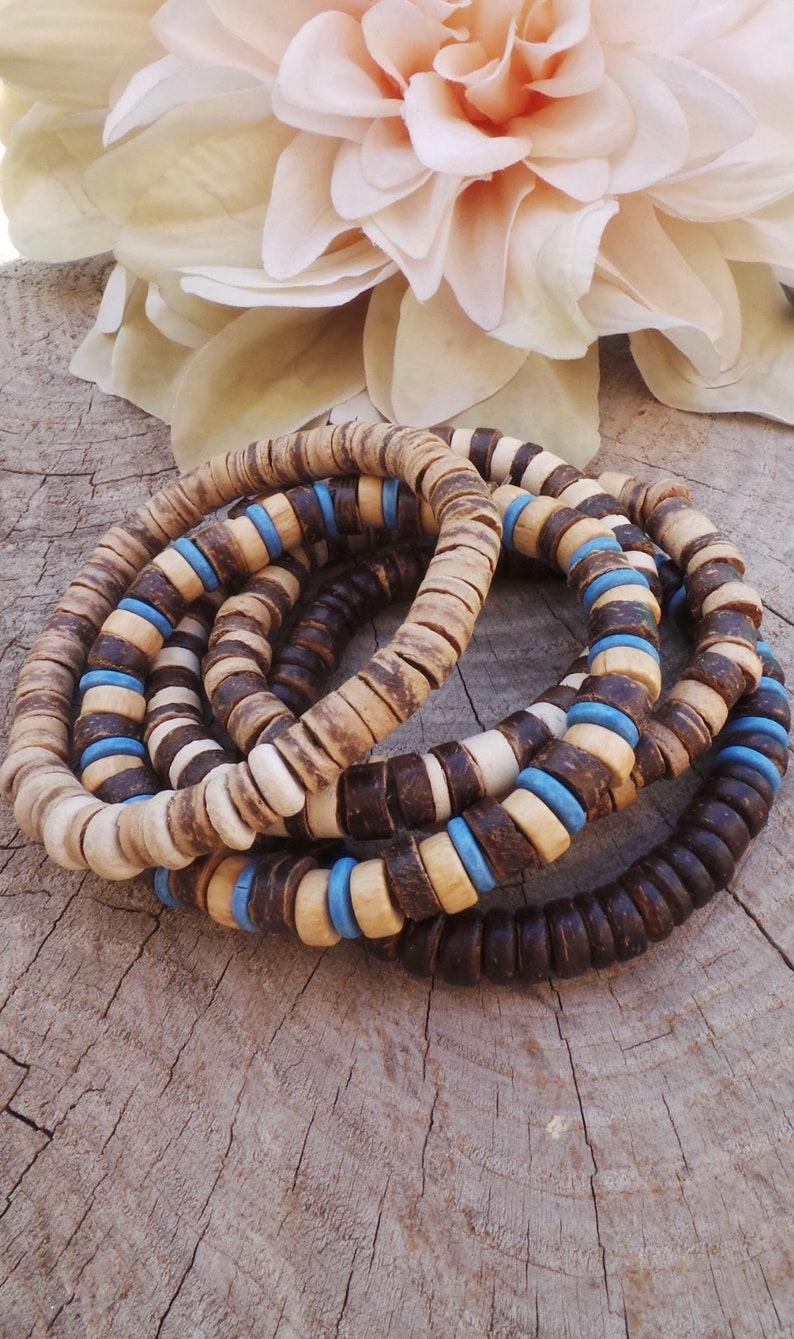 76e7e2c4e74d Mens beaded bracelet. Mens wood bead bracelet. Mens surfer