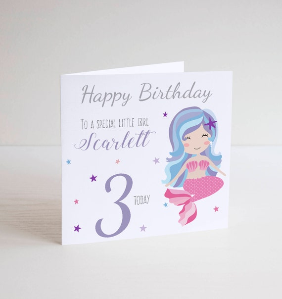 Personalised Birthday Card Fairy Grand Daughter Niece Sister 4th 5th 6th 7th 8th