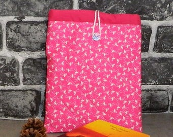 Flamingo gifts, flamingo fabric, kindle sleeve, tablet case, ipad mini cover, pink gift, birthday gift, ipad case, ipad cover, kindle cover,