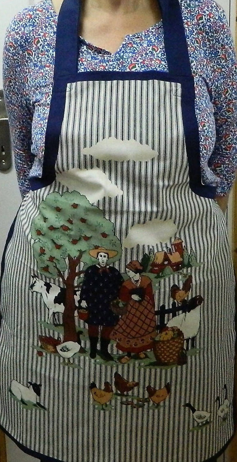 fabric apron chefs apron womens aprons cooking apron kitchen apron womens clothing chickens food apron womens gift aprons for women