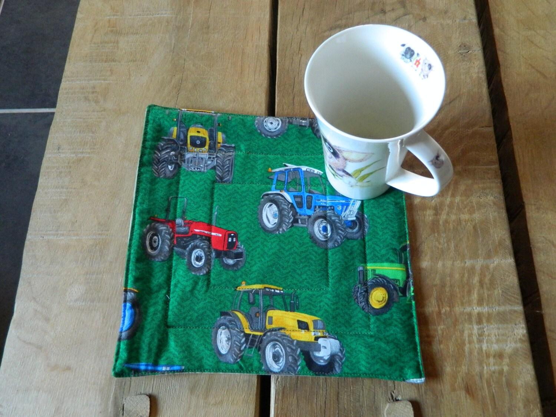 Traktor Stoff Mug Rug Tasse Untersetzer Traktoren Geschenke | Etsy