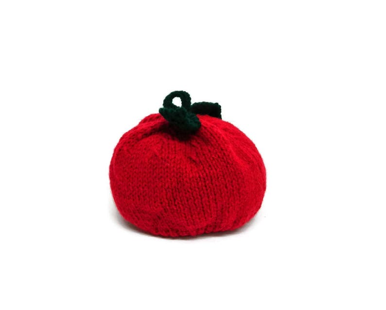 390f8ecaab4 Handmade knits knitted hats Red Apple hand knit hat Filles