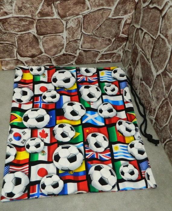 Sac, sac en tissu pour enfant, sacs enfant, sac à cordon, cordon de serrage PJ sac cadeaux football garçons, cadeau sur le thème de football, childs, pour enfants