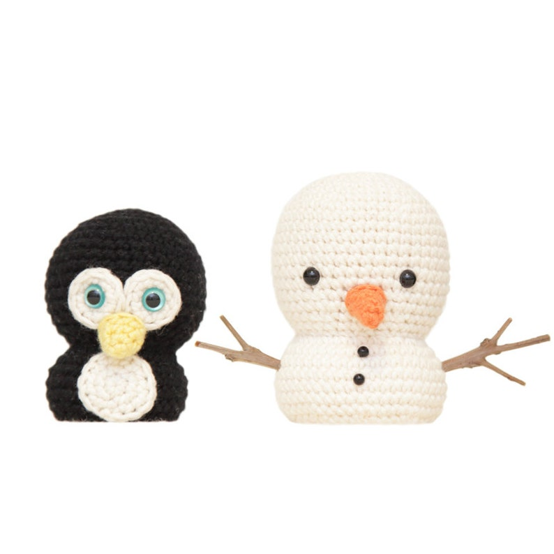 Mr Penguin and Snowman Amigurumi Patterns image 0