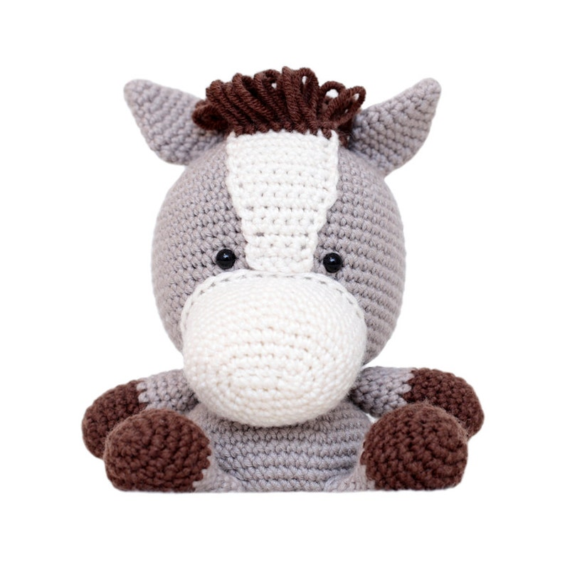Fat Face Horse Amigurumi Pattern image 0