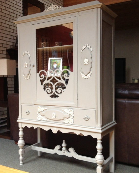 Large Antique China Cabinet  Available For Custom Order