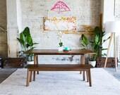 """Solid Walnut Dining Table, Dark Walnut Dining Table, Kitchen Table, Modern Dining Table, Mid Century Modern Inspired, """"The Sputnik"""""""