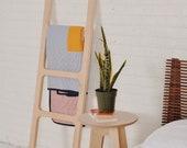 "Wood Blanket Ladder, ""The Eileen"""