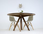 """Dining Table, Round Dining Table, Modern Dining Table, Walnut dining Table, Walnut Table, Dining room table, Mid Century Table""""The Mila"""""""