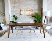 "Mid Century Modern Dining Table, Walnut Dining Table, Mid Century Dining Table, Small Dining Table ""The Santa Monica"""