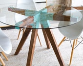 Kitchen Table, Dining Table,Mid Century Table,Mid Century Modern,Glass Table,MidCentury Furniture, Modern Furniture, Danish Modern, THE MAUI