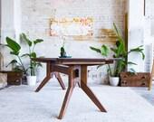 "Modern Dining Table, Scandinavian Table, Walnut Dining Table, Scandinavian Design, Scandinavian modern table   ""The Zoe"" Bohemian Decor"
