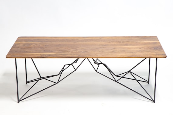 table basse g om trique mi si cle moderne poudre enduite etsy. Black Bedroom Furniture Sets. Home Design Ideas