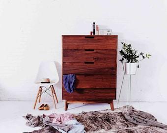 "MCM Dresser ""The Carlyle"" Solid Walnut bedroom furniture"