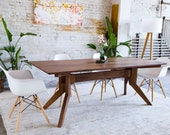 "Modern Walnut Dining Table, Scandi & japandi style furniture ""The Zoe"""