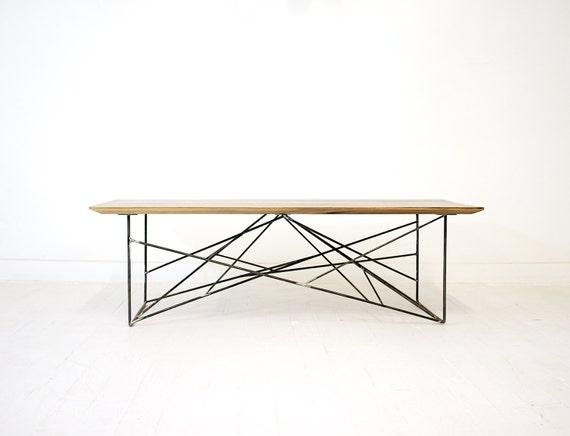 Industrial Modern Steel And Wood Coffee Table Industrial | Etsy
