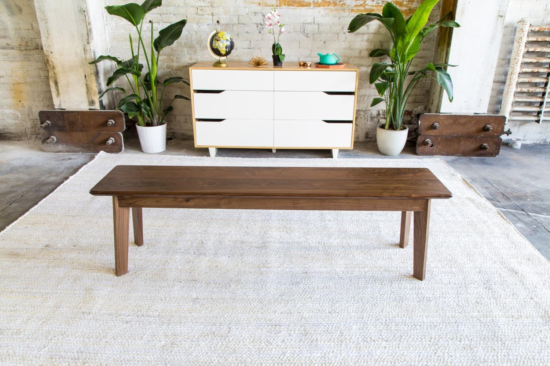 Superbe Modern Walnut Bench Mid Century Modern Bench Walnut Bench | Etsy