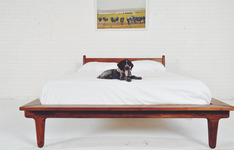 Modern Platform Bed The Nellie Etsy