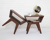 """Mid Century Modern """"The Nellie"""" Side Tables End Tables Bohemian Decor Mad Men"""