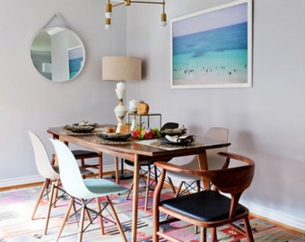 """Mid Century Modern Walnut Dining Table, Small and Large wood kitchen table""""The Santa Monica"""" Bohemian Decor mad men"""