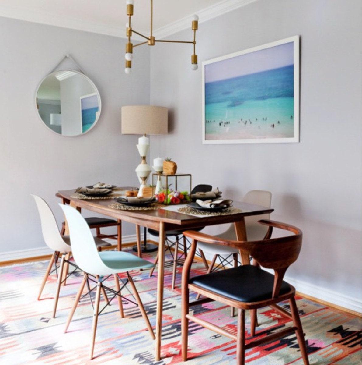Mid Century Modern Walnut Dining Table, Mid Century Modern Dining Room