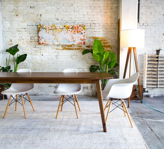Mid century Modern Dining Table, Mid Century Dining Table, Black Walnut  Dining Table \