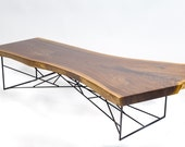 Coffee Table Modern, Coffee Table, Sofa Table, Live Edge Slab, Live Edge Table, Walnut Table, Modern Coffee Table, Industrial Table