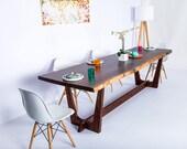 "Live Edge Table, Walnut Slab Dining Table ""The Prima"""