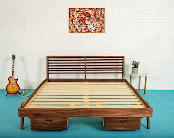 "Platform Bed With Storage, The ""Warwick"""