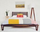 """Danish Modern Platform bed Frame, """"The Baxter"""""""