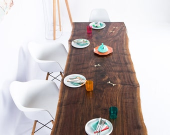 """Walnut Live Edge Slab Dining Table, Conference Table """"The Prima"""""""
