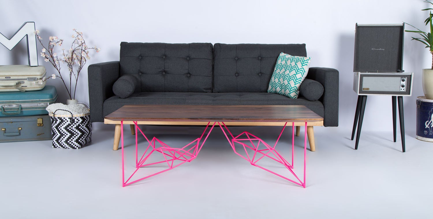 Mid Century Modern Coffee Table Modern Coffee Table Pink Etsy