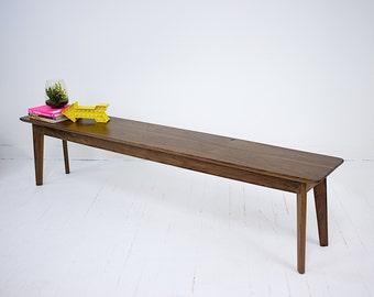 """Midcentury Modern Bench, Bench, Modern Bench, Dining Bench, Modern Bench, Dining Room Bench, Walnut Bench """" The Santa Monica Bench"""""""