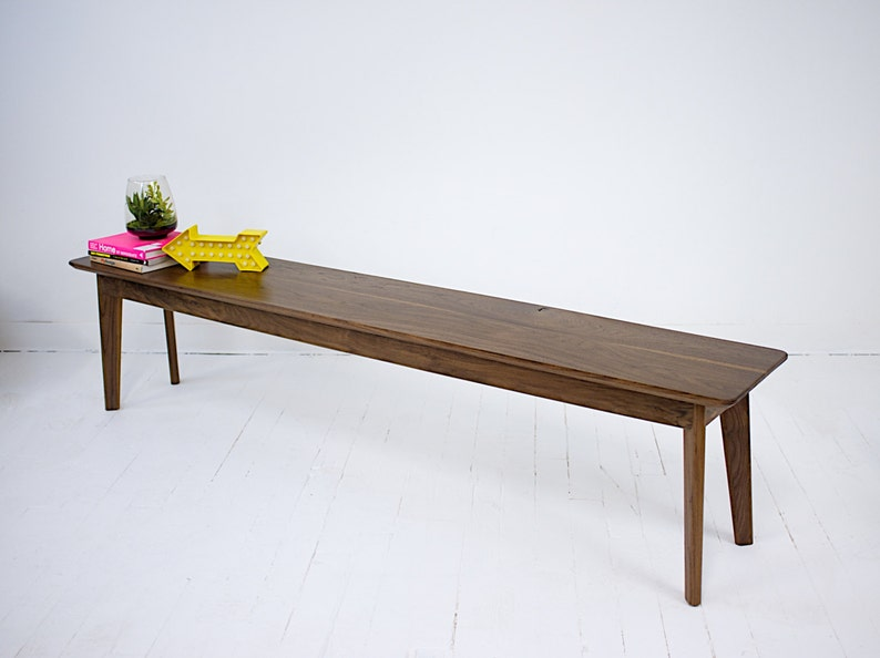 Amazing Bohemian Modern Walnut Dining Bench The Santa Monica Bench Bohemian Decor Mad Men Gmtry Best Dining Table And Chair Ideas Images Gmtryco