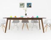 "Scandinavian modern Table, Walnut Dining Table"" The Santa Monica"""