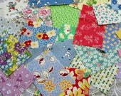 Fabric Grab Bag 1930 39 s Vintage Reproductions 25 or 40 Pieces Snippets Scraps Quilting Junk Journal Collage Scrapbooking Card Making