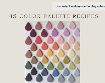 Polymer Clay Color Recipes | Sculpey Souffle | Sculpey Premo | Polymer Clay Color Mixing | Polymer Clay Tutorial | Digital Download |