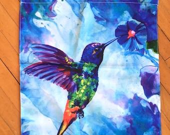 Hummingbird Garden Flag, Small Size