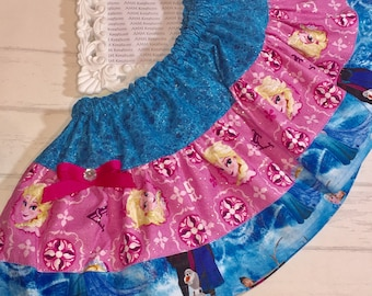 SAMPLE SALE  Disney Frozen Anna and Elsa Girls Skirt