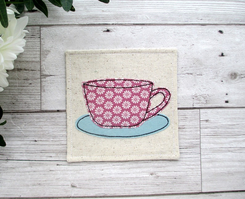 Fabric Coaster Birthday Gift For A Coffee Lover