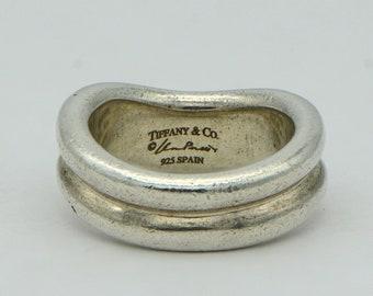 2c3da6a6b Tiffany & Co. Elsa Peretti Doppio Double Wave Ring Sterling Silver Size 4