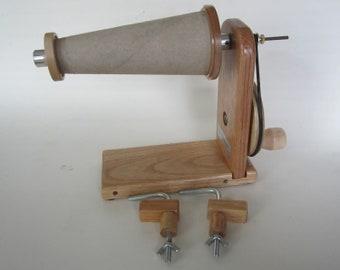 Manual Wooden Bobbin Winder, Handmade, Single Ended, Ashford and Larger Bobbins