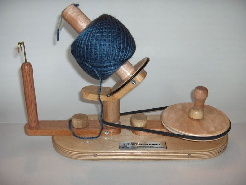 Reserved Yarn Ball Winder By Wood That It Whir Handmade Yarn Ball Winder Large Capacity Crochet Knitting Yarn Spinner Ball Winder