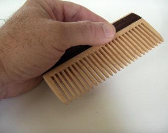 Wooden Comb, Handmade, Men Comb, Women Comb, Natural Hair Care, Convenient Size, Comfort Feel, Safe Natural Finish