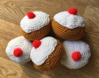 Nursery rhyme theme. Five currant buns