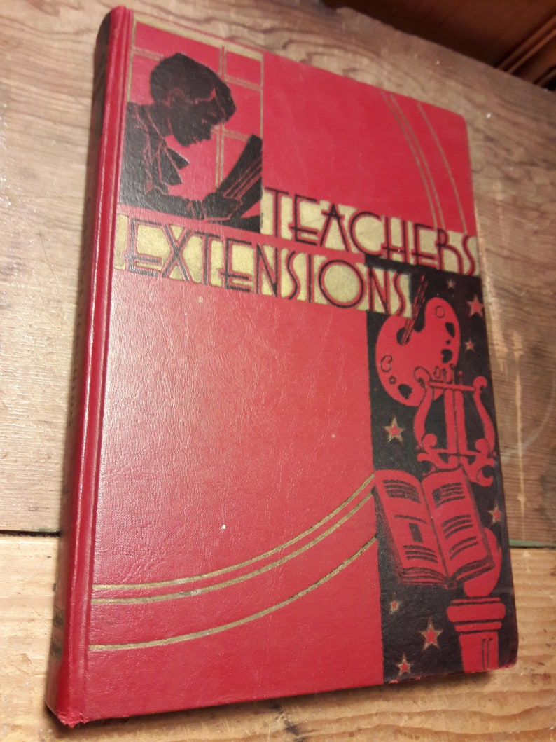 Antique Ruby Red Textbook Teacher S Extensions Etsy