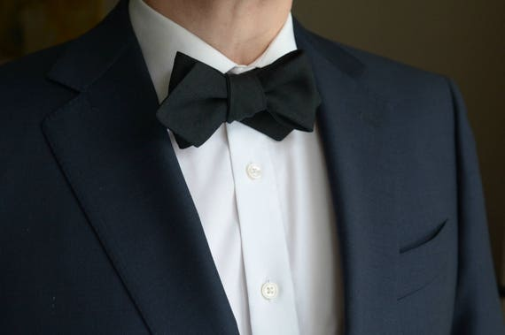 Self Tie Bow Tie for Wedding Days Made in Asheville NC MM-#15-47