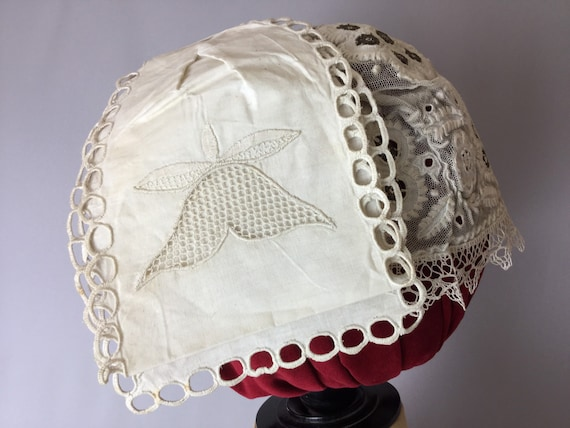Hungarian Folk Costume Bonnet, Antique Bonnet, 19t