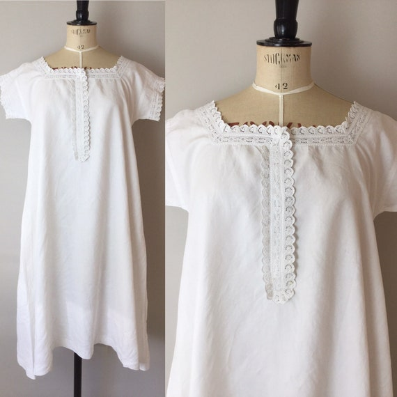 Victorian Chemise, Size S/M, Victorian Nightgown,